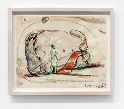 Claes Oldenburg, 'Study for a Huge Stuffed Shirt with Tie, Woman Standing for Scale ', 1963