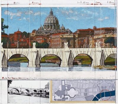 Christo, 'Ponte Sant Angelo, Wrapped, Project for Rome', 2000-2010