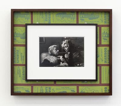 Stephen Prina, 'galesburg, illinois+, Arnold Newman, Marilyn Monroe and Carl Sandburg, Beverly Hills California, January 20, 1962', 2015