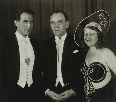 August Sander, 'Stage Performers [Carl de Vogt, Willi Ostermann, Trude Alex]', 1932