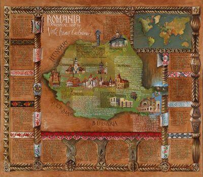 Vali Irina Ciobanu, 'Romania Touristic Map', 2020