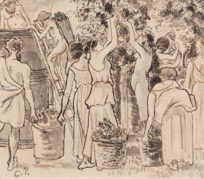 Camille Pissarro, 'Daphnis and Chloë (Vendange)', 1885