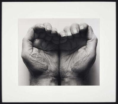 John Coplans, 'Double Hand Front', 1998