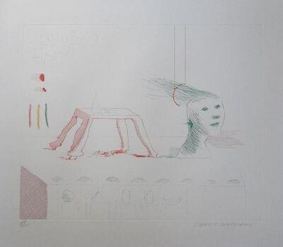 David Hockney, ''Moving Still Life' (from The Blue Guitar) ', 1977