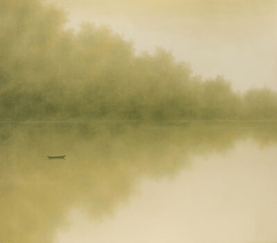 Hong Viet Dung, 'Boat on a lake'