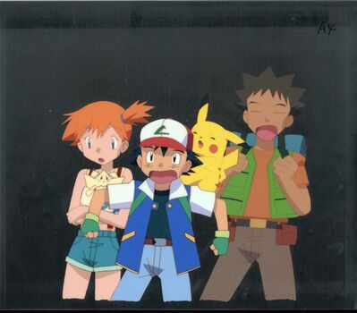 Pokemon, 'Pokemon, Misty and Ash Ketchum', ca. 1990