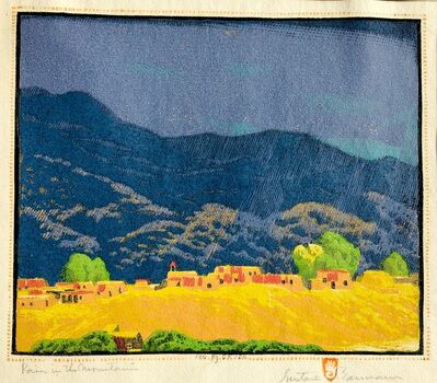Gustave Baumann, 'RAIN IN THE MOUNTAINS', 1926