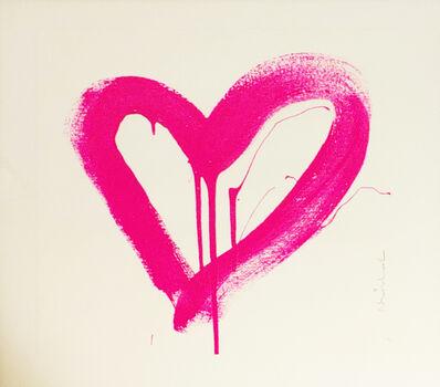 Mr. Brainwash, 'Love Heart (Pink)', 2017