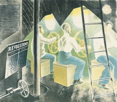 Eric Ravilious, 'Submarines - Diving Controls', 1940
