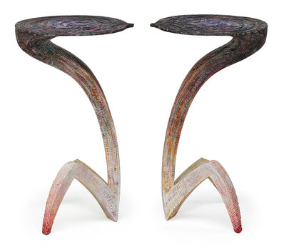 "Yves Boucard, 'Pair of ""Cobra"" tables, Switzerland', 2008"