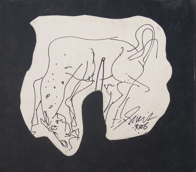 Sunil Das, 'Horse, Executed in ink with Energy, Aggression & Power by Modern Indian Artist Sunil Das', 2006
