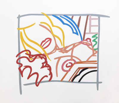 Tom Wesselmann, 'BEDROOM BLONDE DOODLE WITH PHOTO', 1988