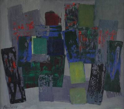 Fritz Winter, 'Komposition zwischen Blau und Grün (Composition between Blue and Green)', 1958