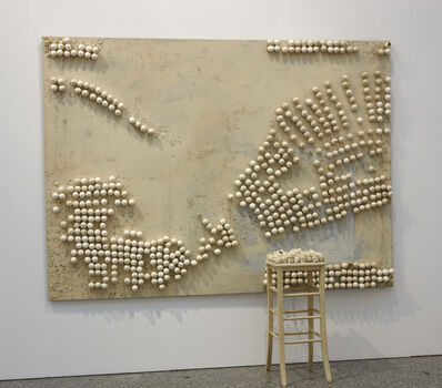 Marcel Broodthaers, 'Panel with Eggs and Stool', 1966