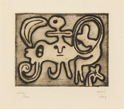 Joan Miró, 'Femme et Oiseau devant la Lune (from Laurels Number One)', 1947