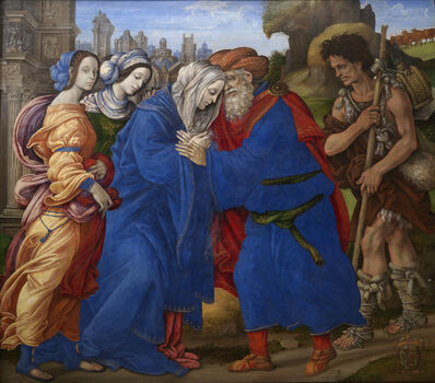 Filippino Lippi, 'The Meeting of Joachim and Anne outside the Golden Gate of Jerusalem ', 1497