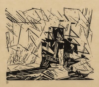 Lyonel Feininger, 'In the Offing (Passe W119)', 1919/1964