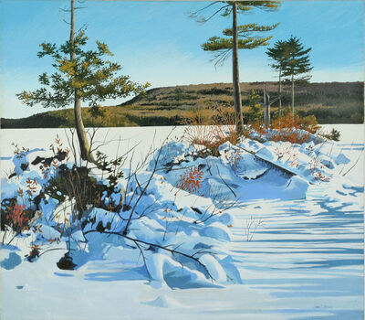 June Grey, 'Cold Stream Winter, Enfield, Maine'