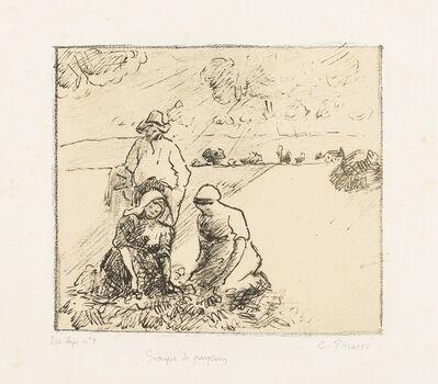 Camille Pissarro, 'Groupe de paysans 1re pl (Delteil 188)', 1899