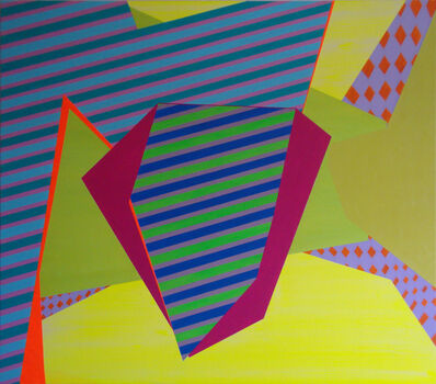Laura Mosquera, 'Double Stripe Set Clipped', 2014