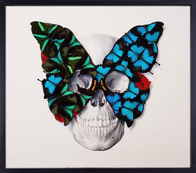 SN, 'Butterfly Mask Skull', 2019