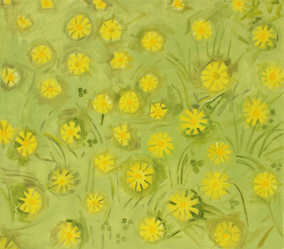Lois Dodd, 'Smooth Hawksbeard', 2016