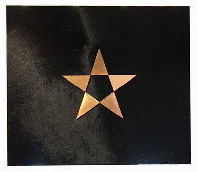 Gilberto Zorio, 'Bronze star on black cowhide', 2009