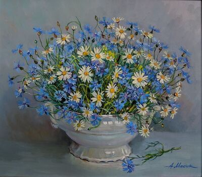"Alexander Masyk, '""Сhamomile and Сornflowers""', 2019"