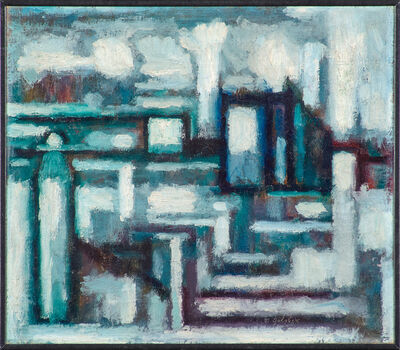 Maurice Golubov, 'Untitled (Abstract Industrial Scene)'