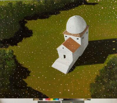 Julio Larraz, 'Flower Storm over Sappho's House', 2016