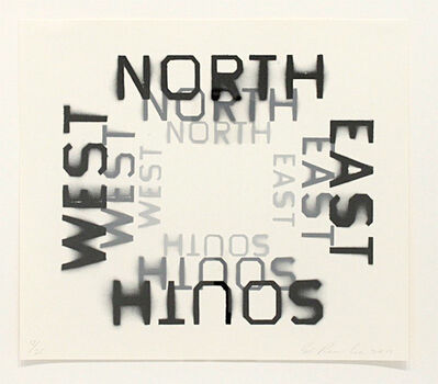 Ed Ruscha, 'All Points (Black State)', 2010