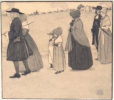 JESSIE WILLCOX SMITH, 'Figures in Line', 20th Century