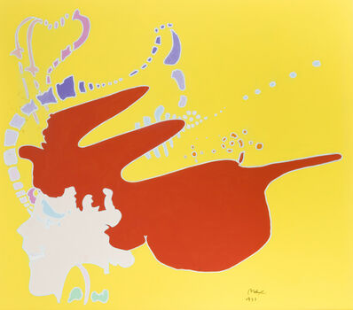 Peter Max, 'Red head girl', 1971