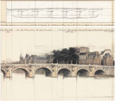 Christo, 'The Pont Neuf, Wrapped (project for Paris)', 1980