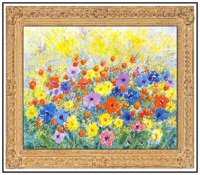 Michele Cascella, 'Michele Cascella Original Oil Painting on Canvas Signed Flower Landscape Artwork', 20th Century