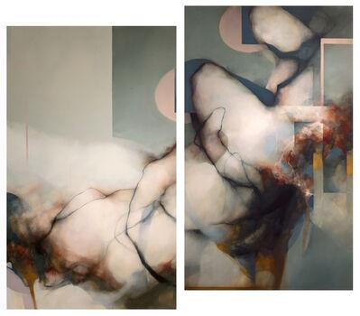 David Mellen, 'Diptych; two panels each 70 x 42 in: 'Swansong'', 2021