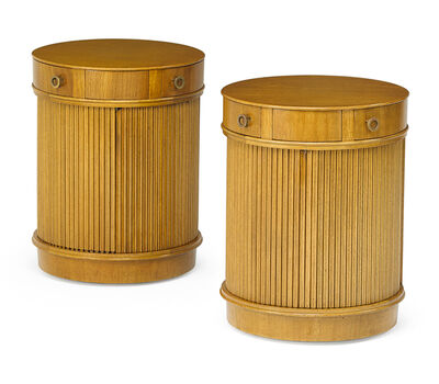 Edward Wormley, 'Pair of side tables/cabinets'
