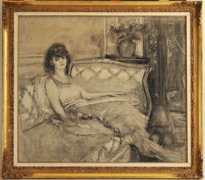 Édouard Vuillard, 'Etude pour: Madame Germaine Rosengart (known as La Parisienne)', 1924