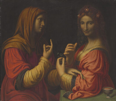 After Bernardino Luini, 'Vanity and Modesty'
