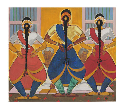 Shiavax Chavda, 'Bharat Natayam Dancers (South India)', 1947