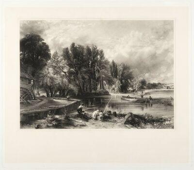 John Constable, 'Stratford Mill (Young Waltonians)', ca. 1834