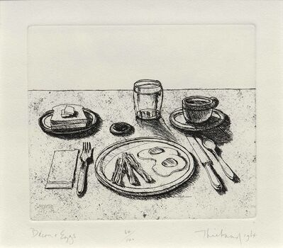 Wayne Thiebaud, 'Bacon and Eggs, from the series, Delights', 1964