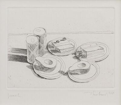 Wayne Thiebaud, 'Lunch', 1964