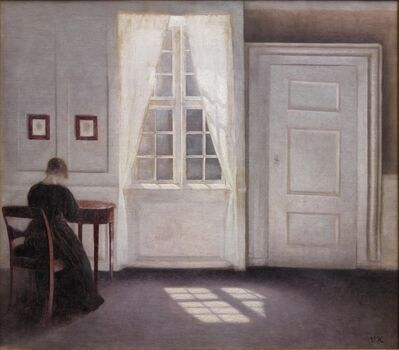 Vilhelm Hammershøi, 'Interior in Strandgade, Sunlight on the Floor', 1901