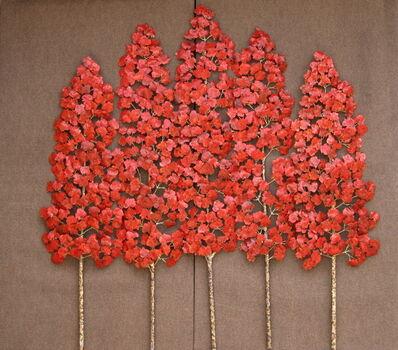 Richard Smith, CBE, 'Aspen Grove 3pc 5 stem red', 2020