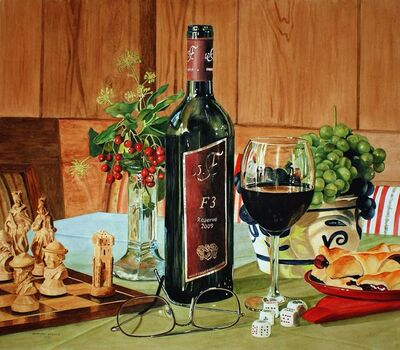 Ingeborg Haeberle, 'Wine and Game', 2014