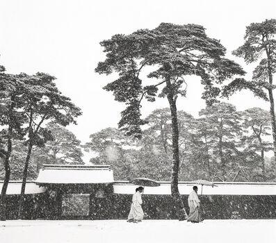 Werner Bischof, 'In the Court of the Meiji Temple, Tokyo, Japan', 1952
