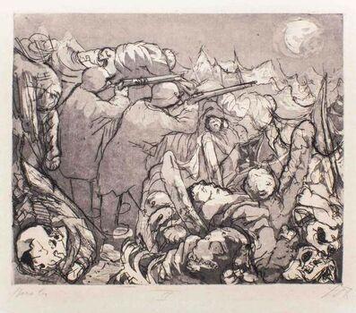 Otto Dix, 'The Outposts in the Trenches Must Maintain the Bombardment at Night (Die Sappenposten haben Nachts das Feuer zu unterhalten)', 1924