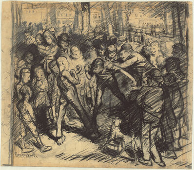 George Wesley Bellows, 'Street Fight [recto]', 1907