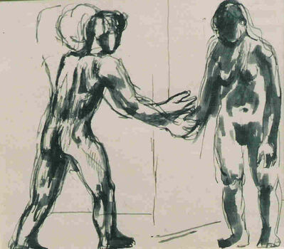Keith Vaughan, 'Two Standing Figures'